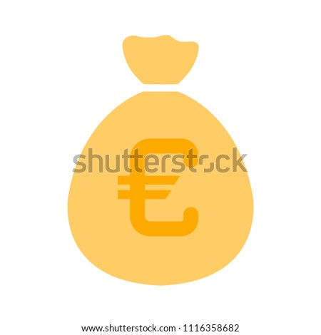 euro money bag illustration - vector euro symbol - money bag isolated