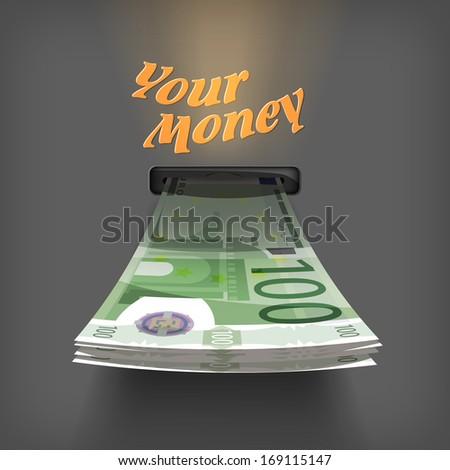 euro money vector format