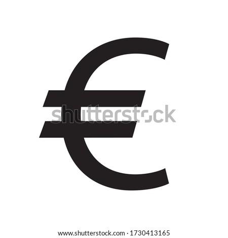 euro sign  symbol  vector