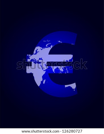 euro sign with plasma design