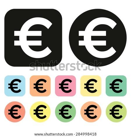 euro symbol eu currency icon