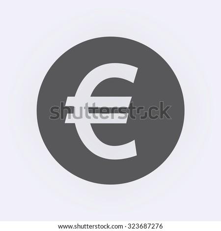 euro symbol in circle  vector