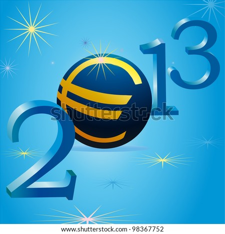 Euro symbol in 2013 New Year
