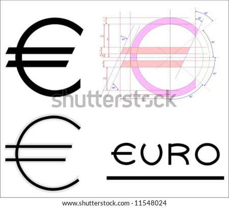 euro symbol official dimensions & original type face