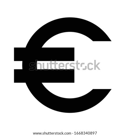 euro symbol simple minimal bold
