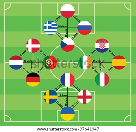 Euro 2012 vector background.
