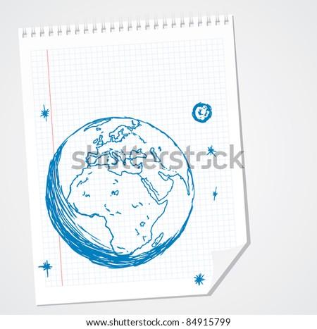Europe Africa Vector Doodle