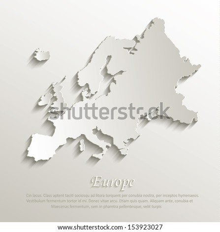 europe map card paper 3d