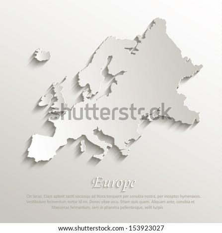 europe map europe vector