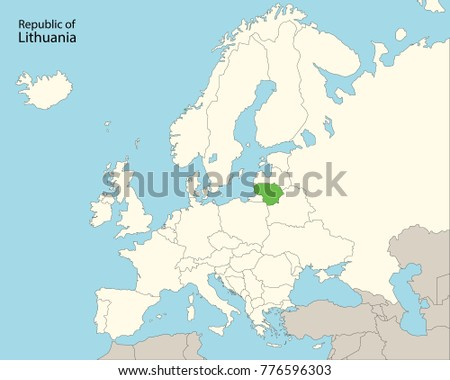 Free Lithuania Map Vector Download Free Vector Art Stock