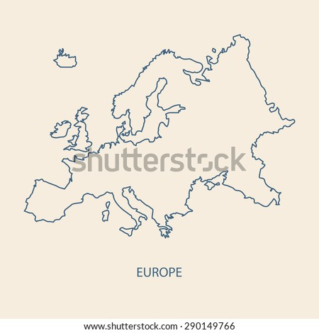 EUROPE MAP OUTLINE VECTOR