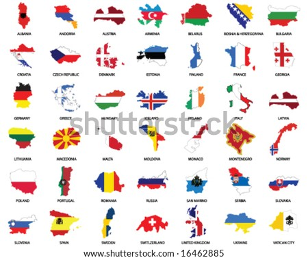 world map with countries outlined. europe map outline. world map