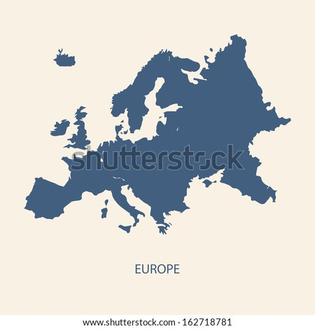 Shutterstock EUROPE MAP VECTOR