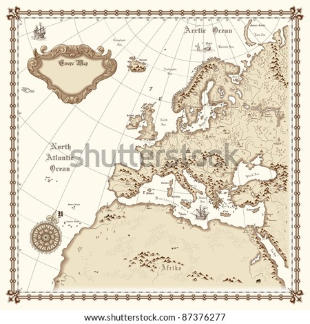 Europe map vector