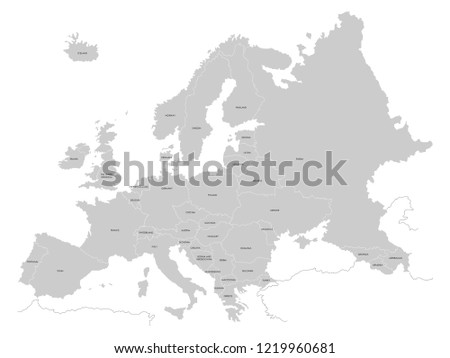 Europe Map VECTOR EPS 10