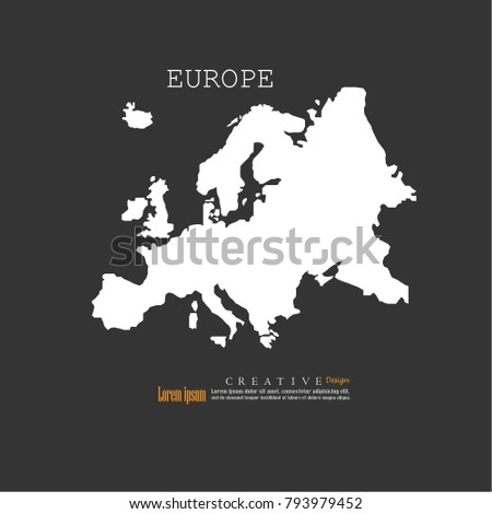 Europe map.Vector illustration.