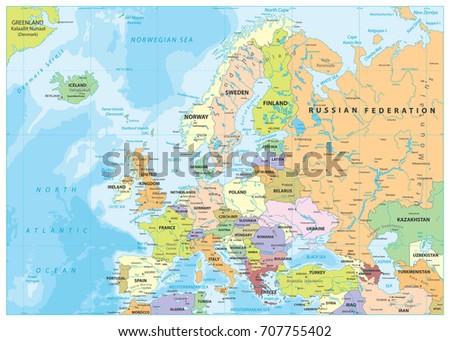 Lettland Karta Europa.Vektor Kartor Over Europa