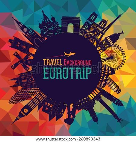 europe skyline silhouette