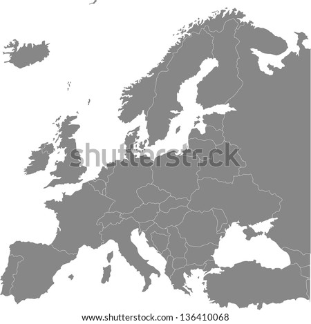 europe vector political map