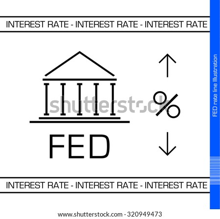 European Central Bank upcoming interest rate decision Illustration. White Background.
