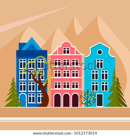 european city in the mountains