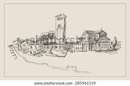 european city view landscape