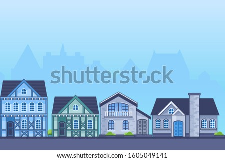 european classic house line art