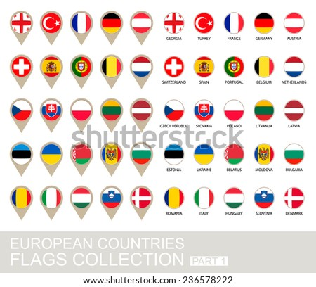 european countries flags