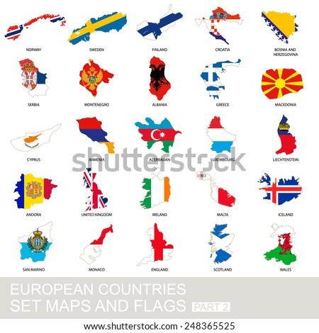 european countries set  maps