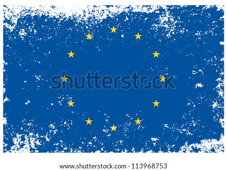 European flag drawing ,grunge