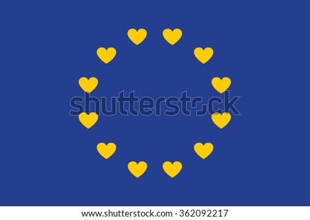 european flag of love love