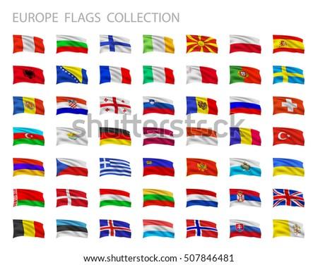 european flags collection