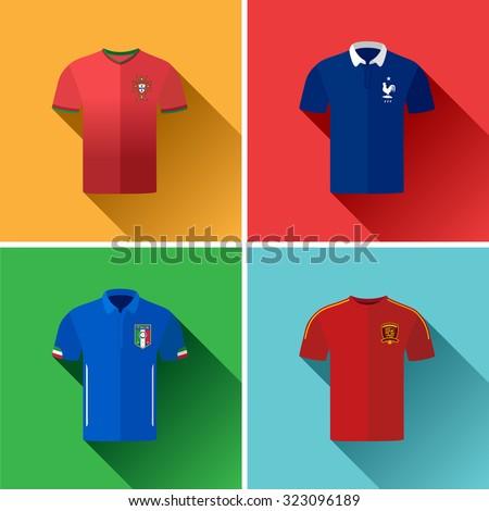 european football jersey flat