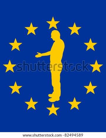 European handshake