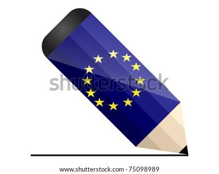 european pencil