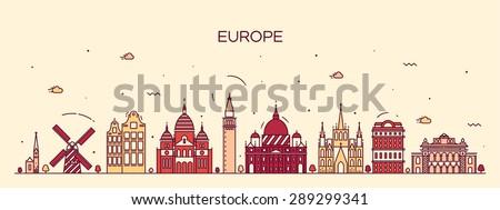 european skyline detailed