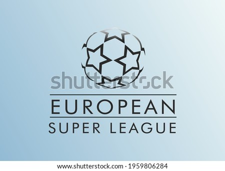 European Super League. Football tournament. Logo European football championship. Vector illustration