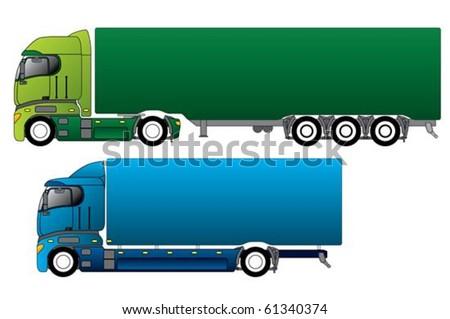 European trucks with different cargo