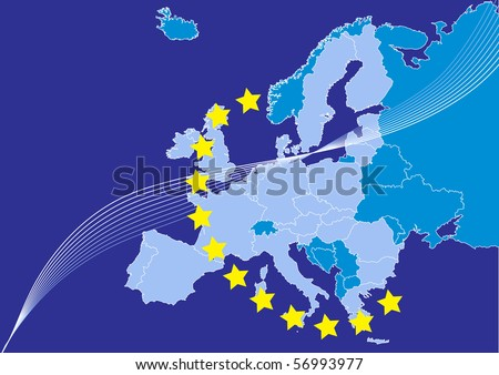 European union, EU,europe map countries. Each country n separate layer for easy editing.