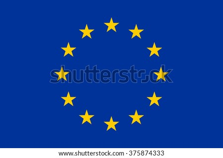 European Union flag , EU flag , official colors and proportion , vector illustration