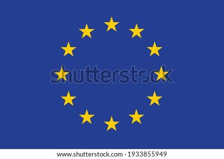 European Union flag Europe country national. Foto stock ©