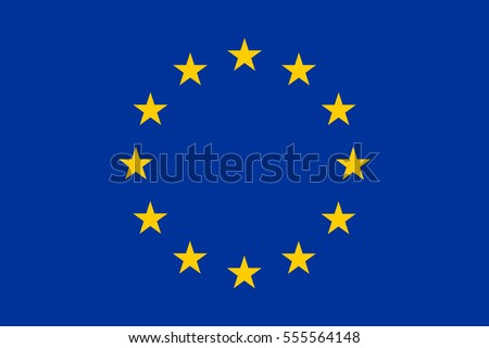 European union flag, official colors and proportion correctly. Patriotic EU symbol. banner, element, design, background. Correct size, colors. Official vector flag of European Union ( EU )