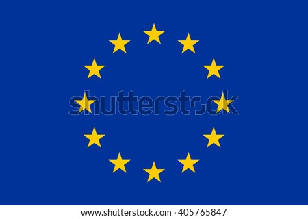 European union flag, official colors and proportion correctly. Vector illustration. EPS10.