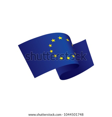 European union flag, vector illustration #1044501748