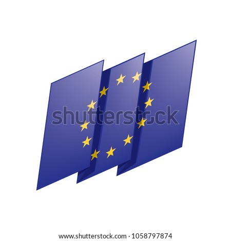 European union flag, vector illustration #1058797874