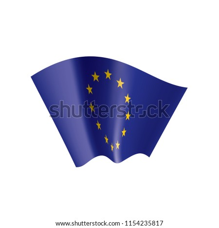 European union flag, vector illustration #1154235817