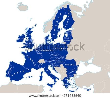 european union political map