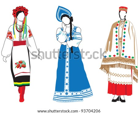 european women in traditional