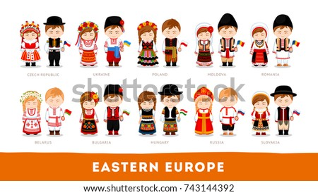 europeans in national clothes