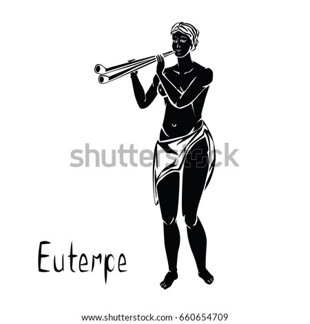 euterpe the muse of music and